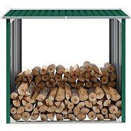 Kůlna na dříví pozinkovaná ocel 172 x 91 x 154 cm zelená - Dřevník