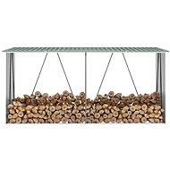 Zahradní kůlna na dříví pozinkovaná ocel 330x84x152 cm zelená - Dřevník