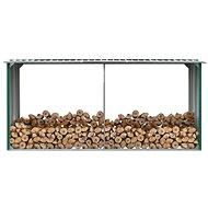 Zahradní kůlna na dříví pozinkovaná ocel 330x92x153 cm zelená - Dřevník