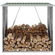 Zahradní kůlna na dříví pozinkovaná ocel 163x83x154 cm zelená - Dřevník