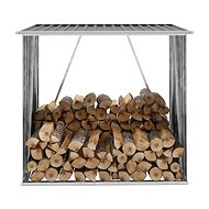 Zahradní kůlna na dříví pozinkovaná ocel 163x83x154 cm antracit - Dřevník