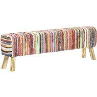 Lavice 160 cm vícebarevná textil chindi