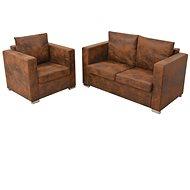 2-piece sofa suede suede