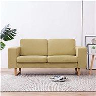 2místná pohovka textilní čalounění zelená - Pohovka