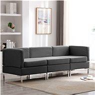 3-piece Sofa, Textile, Dark Grey - Sofa