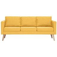 3místná pohovka textilní čalounění žlutá - Pohovka