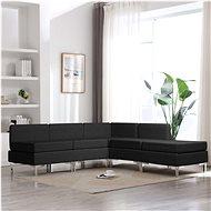 5-piece Sofa Textile Black - Sofa