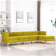5-piece Sofa Textile Yellow - Sofa