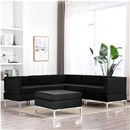 6-piece sofa textile black