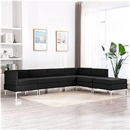 6-piece sofa textile black - Sofa