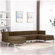 6-piece Sofa Textile, Brown - Sofa