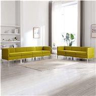 7-piece sofa textile yellow - Sofa