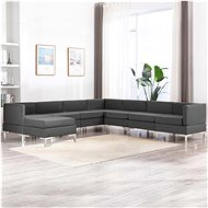 8-piece sofa textile dark gray - Sofa