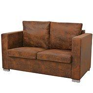 Double sofa 137 x 73 x 82 cm artificial suede - Seat