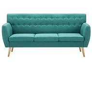 Three-seater with textile upholstery 172 x 70 x 82 cm green - Seat