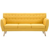 Three-seater textile upholstery 172 x 70 x 82 cm yellow - Seat