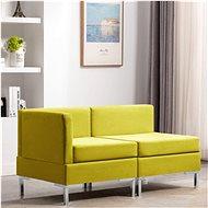 2-piece sofa textile yellow