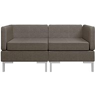 2-piece Sofa, Textile, Taupe