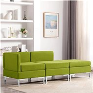 3-piece Sofa Textile Green