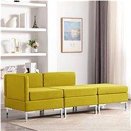 3-piece sofa Textile Yellow - Sofa