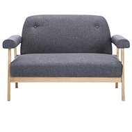 2-seater seat textile upholstery dark gray
