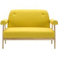Double textile seat yellow