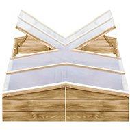 Greenhouse 2 pcs Impregnated Pine 200 x 50 x 35cm - Hotbed