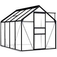 Skleník s podkladovým rámem antracitový hliník 4,75 m2 - Skleník