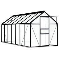 Skleník s podkladovým rámem antracitový hliník 8,17 m2 - Skleník