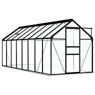 Skleník s podkladovým rámem antracitový hliník 9,31 m2 - Skleník