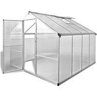 Zpevněný hliníkový skleník se základním rámem 6,05 m2 - Skleník