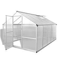 Zpevněný hliníkový skleník se základním rámem 7,55 m2 - Skleník
