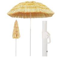 Plážový slunečník v havajském stylu 180 cm přírodní - Slunečník
