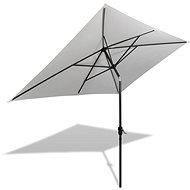 Slunečník 200 x 300 cm pískově bílý obdélníkový - Slunečník
