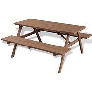 Piknikový stůl s lavicemi hnědý 150 x 139 x 72,5 cm WPC