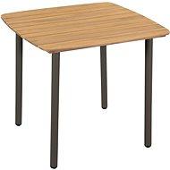 Zahradní stůl 80 x 80 x 72 cm masivní akácie dřevo a ocel