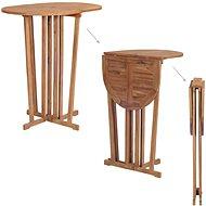 Skládací barový stůl 100 x 65 x 105 cm masivní teakové dřevo - Zahradní stůl