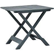 Skládací zahradní stůl zelený 79 x 72 x 70 cm plast - Zahradní stůl