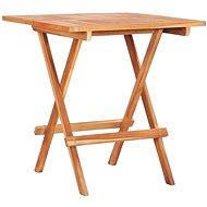 Skládací bistro stolek 60 x 60 x 65 cm masivní teakové dřevo - Zahradní stůl