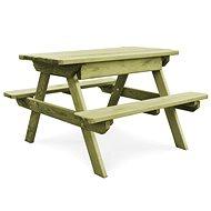 Piknikový stůl s lavicemi 90 x 90 x 58 cm impregnovaná borovice