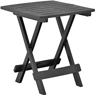 Skládací zahradní stůl antracitový 45 x 43 x 50 cm plast  - Zahradní stůl