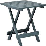 Skládací zahradní stůl zelený 45 x 43 x 50 cm plast  - Zahradní stůl