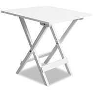 Bistro stolek bílý 46 x 46 x 47 cm masivní akáciové dřevo