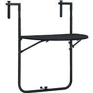Závěsný stůl na balkon černý 60x64x83,5 cm plast imitace ratanu - Zahradní stůl