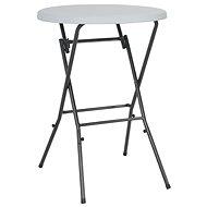 Skládací barový stůl bílý 80 x 110 cm HDPE - Zahradní stůl