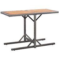 Zahradní stůl antracitový polyratan a masivní akáciové dřevo - Zahradní stůl