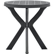 Bistro stolek antracitový O 70 cm plast - Zahradní stůl