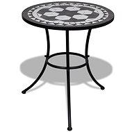 Bistro stolek černý a bílý 60 cm mozaika - Zahradní stůl