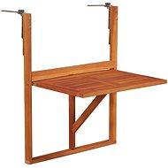 Závěsný stůl na balkon 64,5 x 44 x 80 cm masivní akáciové dřevo - Zahradní stůl