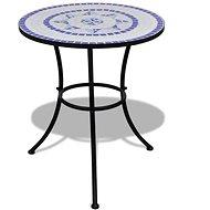 Bistro stolek modrý a bílý 60 cm mozaika - Zahradní stůl